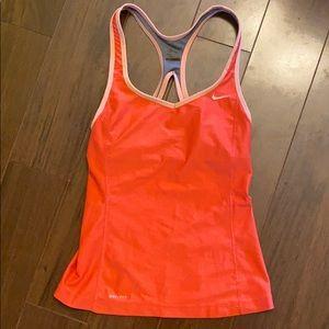Nike Coral Pink Running Tank Workout Top S 🏃🏽♀️